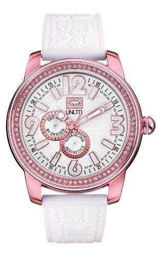 Marc Ecko  0 - Reloj de cuarzo unisex, con correa de resina, color blanco