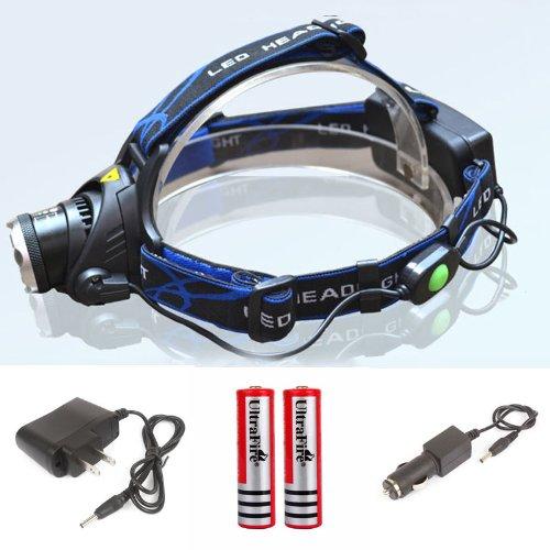 New 2000 Lm Cree Xm-L Xml T6 Led Headlamp Headlight