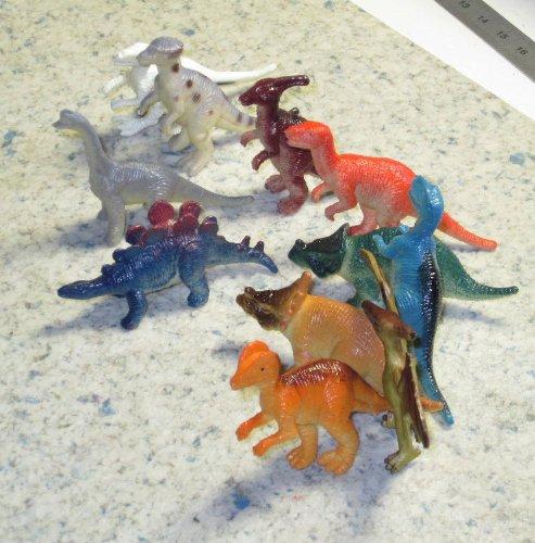 12 Stück Dinosaurier Kunststoff ca. 6-7 cm Dinos Spielzfiguren Sammelfiguren