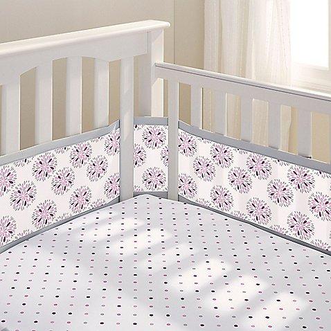 BreathableBaby Breathable Mesh Crib Liner- Dahlia