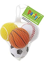 Foam Sports Ball Party Favors, Assorted 4ct