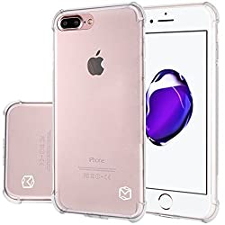 iPhone 7 Plus Case, MP-Mall [Slim Fit] [Shockproof] Flexible TPU Gel Rubber Soft Skin Silicone Protective Case Cover For iPhone 7 Plus (Clear)