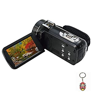 """ORDRO HDV-Z82 10X Optical Full HD Camcorder Hot Shoe Camera 24MP HDMI 3.0"""" TFT LCD with External Microphone"""