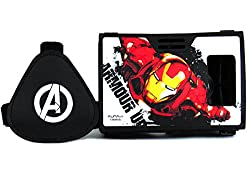 Marvel Avengers(Iron Man) Armored Suit Plastic 6 inch Virtual Reality Viewer (VR Headset) for Apple iPhone 5s, Android Phones from AuraVR Inspired by Google Cardboard