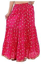 Magnus Women's Long Skirt (SKT453, Pink, S)