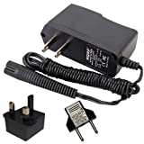 HQRP AC Mains Adaptor for Braun Series 3 Model 330s-4, 320s-4 Type 5415, Model 370, 350cc, 370cc Type 5774, Model 340 Type 5775 Razor / Shaver Power Cord Charger