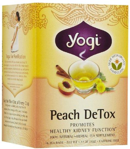 Yogi Tea Peach Detox, Herbal Supplement, Tea Bags, 16 Ct