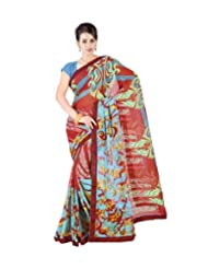 Triveni Designer Printed Saree With Unstitch Blouse - 2183
