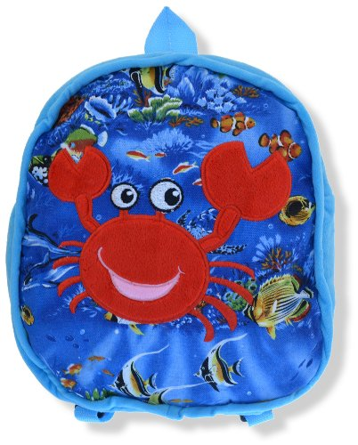 "Crab - 11"" Kids Blue Backpack"
