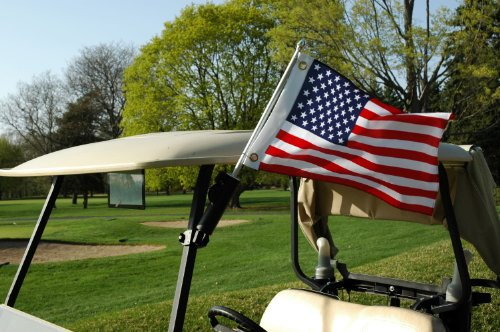 Flagpole To Go Portable Golf Cart 28-Inch Flagpole