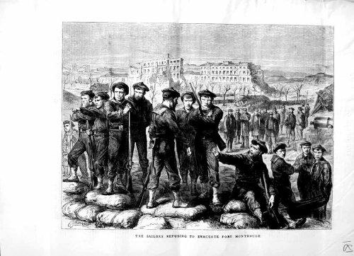 1871 Scene Sailors Refusing Evacuate Fort Montrouge