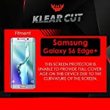 Klear Cut [6 Pack] - Screen Protector for Samsung Galaxy S6 Edge+ / Edge Plus - Lifetime Replacement Warranty - Anti-Bubble & Anti-Fingerprint High Definition (HD) Clear Premium PET Cover