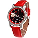 Time100 Constellation-series-Cancer Genuine Leather Strap Automatic Mechanical Ladies Watch #W80050L.04A