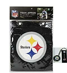 Pittsburgh Steelers Apron and Chef\'s Hat and Bottle Cap Opener