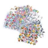 Bluelans® Nagelsticker- Wassertransfer Nail Art - 10 Blatt 3D Nail