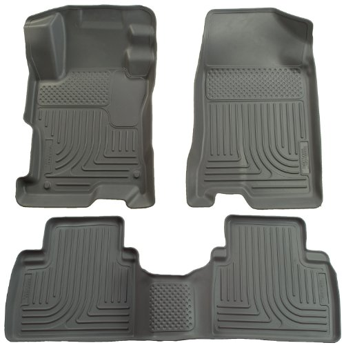 Husky Liners Custom Fit Front and Second Seat Floor Liner Set for Select Toyota/Pontiac Models (Grey) (2012 Toyota Corolla Trunk Liner compare prices)