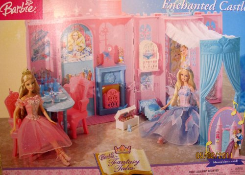 Barbie Fantasy Tales Enchanted Castle Playset Palace W Musical Dance Stand, Canopy Bed & More! (2004) front-1069638