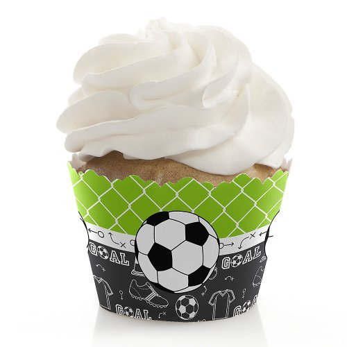 GOAAAL! - Soccer - Party Cupcake Wrappers - Set of 12 (Soccer Baking Cups compare prices)