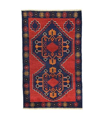 L'Eden del Tappeto Teppich Beluchistan rot/dunkelblau 145t x t90 cm