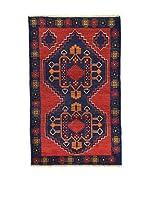 L'Eden del Tappeto Alfombra Beluchistan Rojo / Azul Oscuro 145  x  90 cm