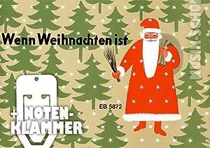 Wenn Weihnachten ist inkl. praktischer Notenklammer - 15 Weihnachtslieder für Kinder leicht arrangiert für Klavier mit wunderschönen farbigen Illustrationen (broschiert) von Siegfried Köhler (Noten/Sheetmusic)
