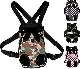[ケンコバハンズ] 2WAY ペットキャリーバッグ 小型犬用 抱っこバッグ キャリーバッグ 中型犬 用 抱っこ & おんぶ リュック バッグ (リボンピンクS)