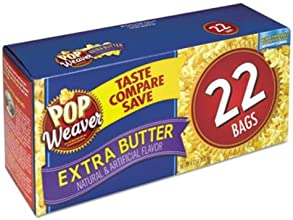 Office Snax Inc 105512 Microwave Popcorn Extra Butter 25oz Bag 22Box