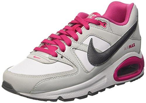 Nike Air Max Command (Gs) Scarpe da corsa, Bambine e ragazze, Multicolore (White/Mtlc Cl Gry-Vvd Pnk-Cl G), 38