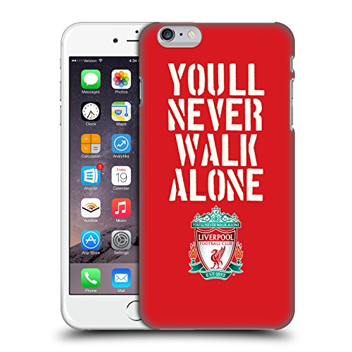 Ufficiale Liverpool Football Club Stencil Rosso Crest YNWA Cover Retro Rigida per Apple iPhone 6 Plus / 6s Plus