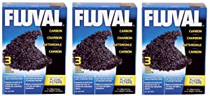 Fluval Carbon Nylon Bags for Aquarium, 100gm, 9-Pack