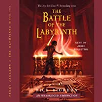 The Battle of the Labyrinth: Percy Jackson, Book 4: Percy Jackson and the Olympians, Book 4 (       UNABRIDGED) by Rick Riordan Narrated by Jesse Bernstein