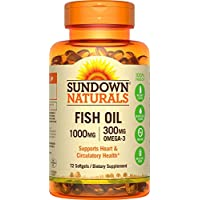 Sundown Naturals Fish Oil 1000 mg 72 Softgels