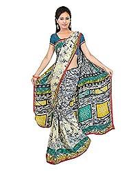 Madhavi Women's Faux Georgette Saree