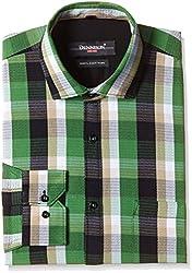 Dennison Men's Formal Shirt (SS-16-401_42_Green)