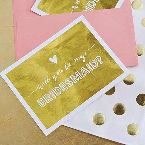 Bridesmaids and Maid of Honor Question Cards (set of 4)