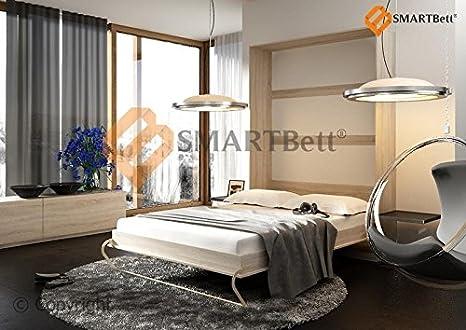 Vertical cama armario Smart con colchón plegable bed 90 x 200 cm vertical madera de roble Sonoma
