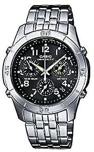 Casio Casio Funkuhr WVQ-600DE-1AVER - Reloj analógico de caballero de cuarzo con correa de acero inoxidable plateada