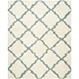 Safavieh Dallas Shag Collection SGD257J Ivory and Light Blue Area Rug, 8-Feet by 10-Feet