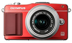 Olympus E-PM2 Interchangeable Lens Digital Camera with 14-42mm Lens (Red)