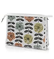 Contemporary Floral Print Cosmetic Bag