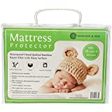 #1 Softest Crib Mattress Protector Pad From Bamboo Rayon Fiber by Margaux & May - Waterproof Fitted Quilted Mattress Protector Pad for Your Crib. High Absorbency and Stain Protection Baby Cover Made for Superior Comfort.