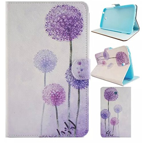 Samsung Galaxy Tab 3 7.0 Case,T210 Case,Enjoy Sunlight [Slim Fit] Folio Leather Stand [Wallet] Shell Cover with Card Holder Compatible for Samsung Galaxy Tab 3 7.0 SM-T210 / SM-T217 [Purple Dandelion]