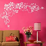 Tree Flower Wall Sticker / Removable Wall Decor / Large Floral Wall Transfer bv1