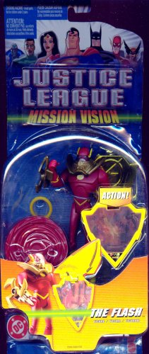Buy Low Price Mattel Justice League Mission Vision The Flash Figure with Gold Mission Shield (B001IEKDD6)