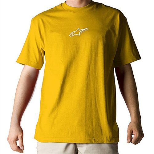 Alpinestars Astar T-Shirt , Distinct Name: Gold, Size: XL, Gender: Mens/Unisex, Primary Color: Gold 41265859XL