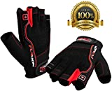 Weightlifting Gloves for Crossfit Workout Training - Fitness Cycle & Gym Gloves for Men or Women - Best Gloves for Weight Lifting Biking Exercise W. Wrist Closure - Enhance Your Grip and Eliminate Blisters & Calluses - 1 Year Replacement Warranty (Fusion, Large)
