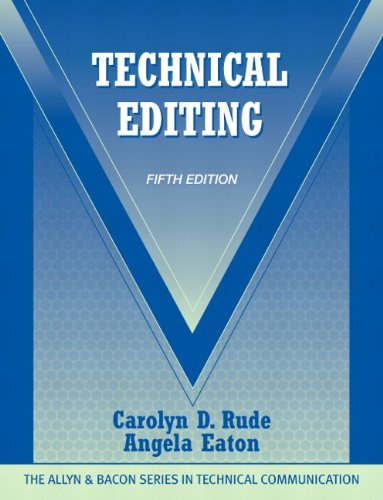 Technical Editing (5th Edition) (Allyn & Bacon Series...