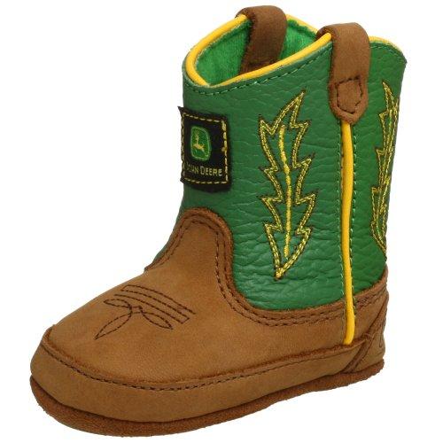 John Deere 186 Western Boot (Infant/Toddler),Tan/Green,4 M Us Toddler front-826113