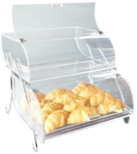 Rosseto BAK200M 2-Shelf Bakery Display Case, Clear