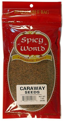 Spicy World Caraway Seeds, 7-Ounce Pouches (Pack